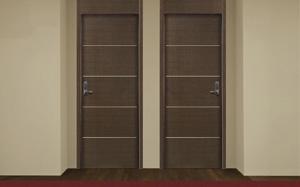 Puertas con combinación de materiales de la marca Puertas Norma-Norma Doors