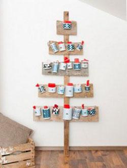 Original árbol de Navidad que puede servirnos de calendario de adviento