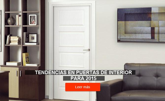 Tendencias en puertas de interior en el año 2015